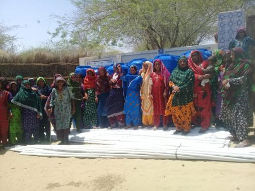 Distribution of 500 Kitchen Garden irrigation Drip, tool & fertizer kts are being handing over in chachro city District Tharparkar among targeted beneficiaries under SIAPEP.