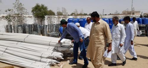 Field visit for material inspection for KItchen Garden Drip kits on May, 6, 2019 at Mithi & chachro with PSIAC,  M& E, Deputy Director Tharparkar and representative of supplier SSCs.