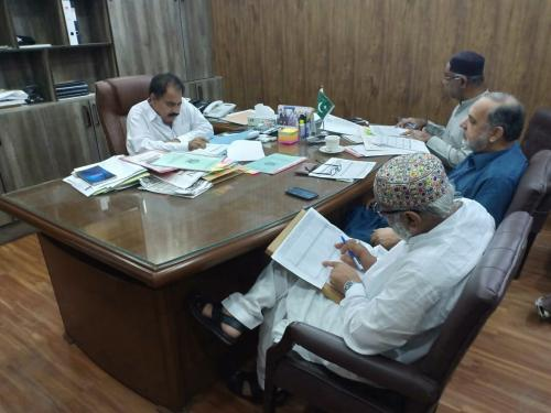 A Progress review meeting under chairmanship of PD-SIAPEP with Additional Director General, Lower Sindh & Deputy Directors (Field) SIAPEP, Distt Thatta,Sujawal,&Badin on 10.4.2019