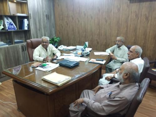 Meeting held on 13.9.2019 with PD SIAPEP to review progress of FFS in lower Sindh.  Attended by TAT consultants.