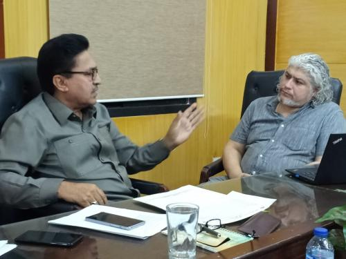 Meeting with Babar Naseem. (Social Development Specialist W.Bank) on 2.5.2019 at SIAPEP office Hyderabad