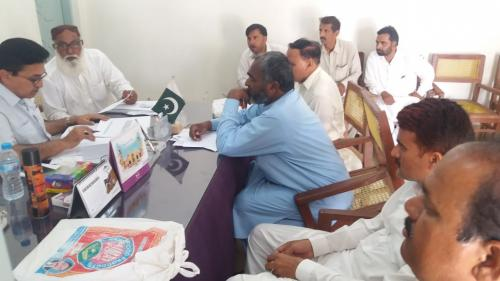 Meeting with Deputy Directors,Ads,WMOs n Sub Engineers pertain to dist Ghotki to review physical progress on watercourse lining ,HEIS,FFS and M&E