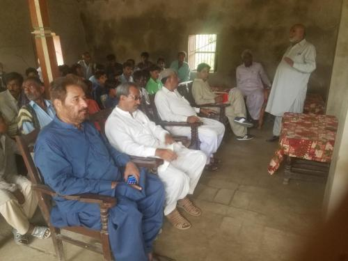 PIU-SIAPEP Team along with Consultants Conducted FFS Schools & visited FFS Demo plots & Water Coures Sites at Disstt: Badin