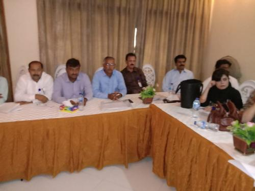 Training of Facilitators for Agriculture and Social mobilization under SIAPEP at SAU Tandojam.  Dated 24.9.2019