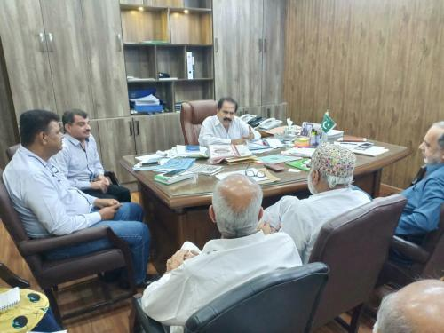 Under Chairmanship of PD-SIAPEP a meeting held regarding Sustainable Agriculture Development in Thar on 10.4.2019 at SIAPEP office Hyderabad
