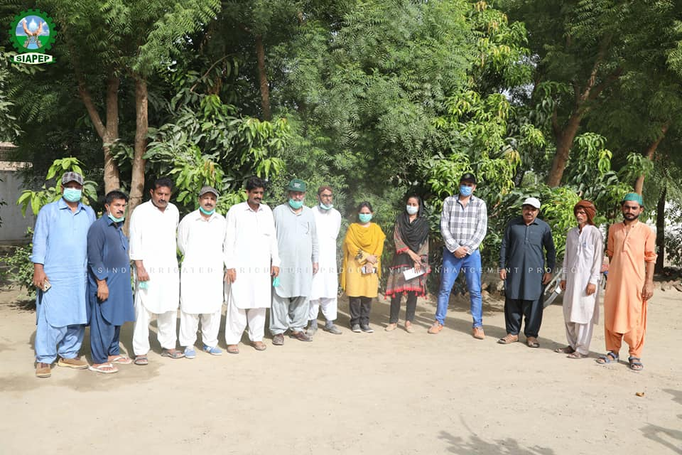 SIAPEP activities in District Larkana, Visited & Documented by PIU-SIAPEP Team on 23-July-2020