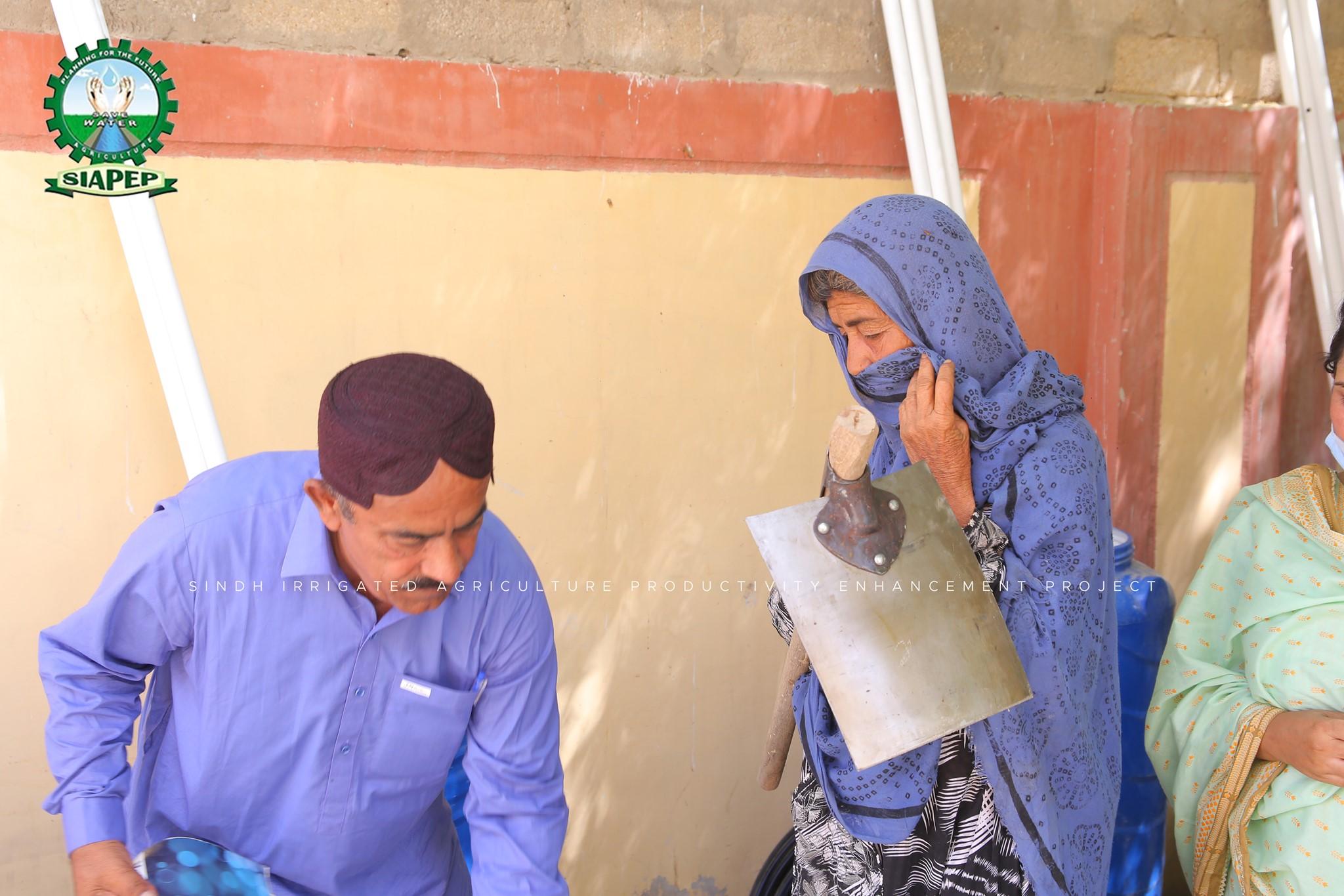 Distribution of KG kits and awareness session regarding HEIS and coverage of drip irrigation system at Hakim Khan Noohani Fram Jhangara Distt: Jamshoro.