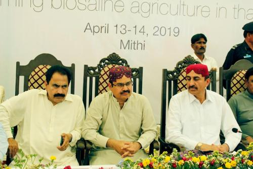 """Blooming thar"""" Exhibition inaugrated by Mr. Muhammad Ismail Rahoo Minister Agriculture,Supply & Prices Govt: of Sindh on 13.4.2019, Mithi, Tharpakar"""