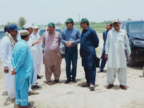 Field Awareness to farmers regarding SIAPEP intervention specially HEIS in district Shaheed B- Abad along with communication specialist, District field staff and PSiACs.