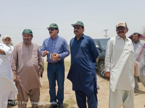 Field visit conducted of HEISDRIP site installed under SIAPEP  at the farm of Mr. Abid Hussain Rundhawa on  5 acre