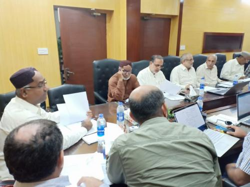 Progress review meeting with DDOs Lower region & PSIA & M&E Consultants chaired by PD SIAPEP at SIAPEP office on 19.9.2019