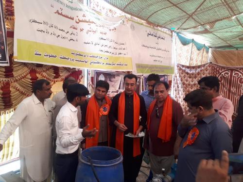 SIAPEP stall & Demo of HEIS (DRIP kit) @ Mela of Hazrat Sachal Sarmast ..Daraza Sharif dist.khairpur