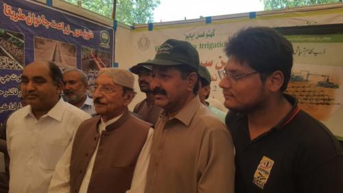 Syed QaimAli Shah X CM Sindh  visited Siapep stall @ Dates Festival Khairpur.