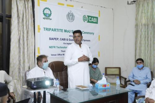 Tripartite MOU Signing Ceremony at Larkana.
